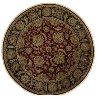 Round Persian Style Hand-Knotted Wool Rug - 12' x 12'