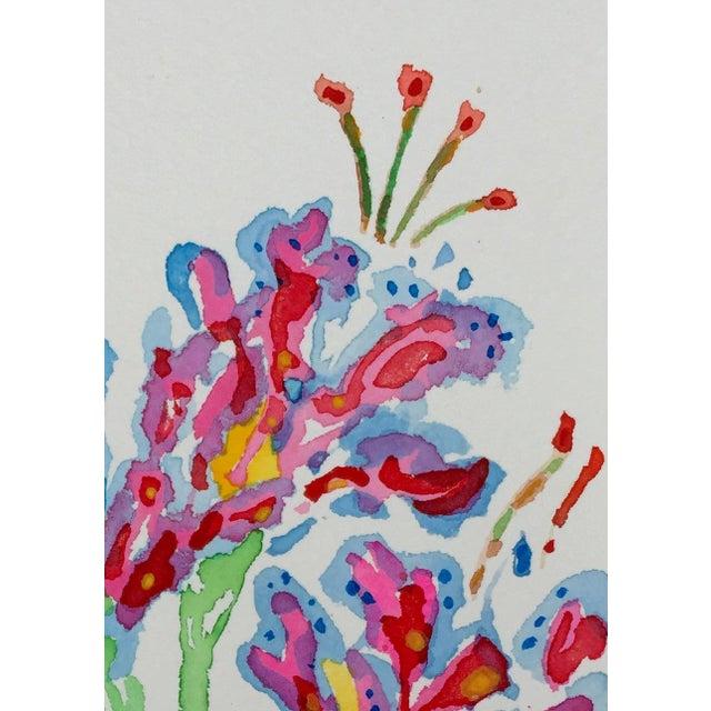 """""""Tropical Stargazer 1"""" Original Watercolor - Image 3 of 3"""