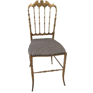Chippendale Chair in Kelly Wearstler Striped Hide