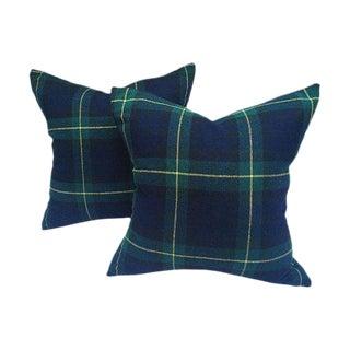 Black Watch Plaid & Cashmere Pillows- A Pair