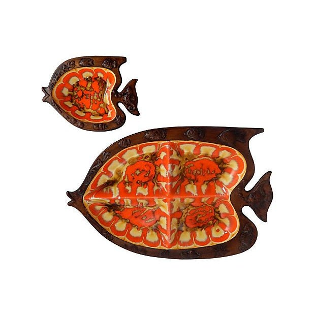 Mid-Century Modern Fish Serving Dishes - A Pair - Image 1 of 6
