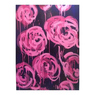 Megan Coonelly Roses on Navy Painting