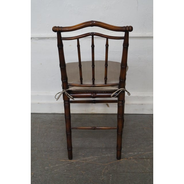 Image of Faux Bamboo & Cane Side Chair