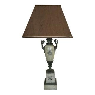 Painted Metal Green Table Lamp