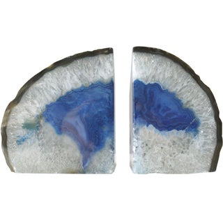 Vintage Geode Agate Bookends - A Pair