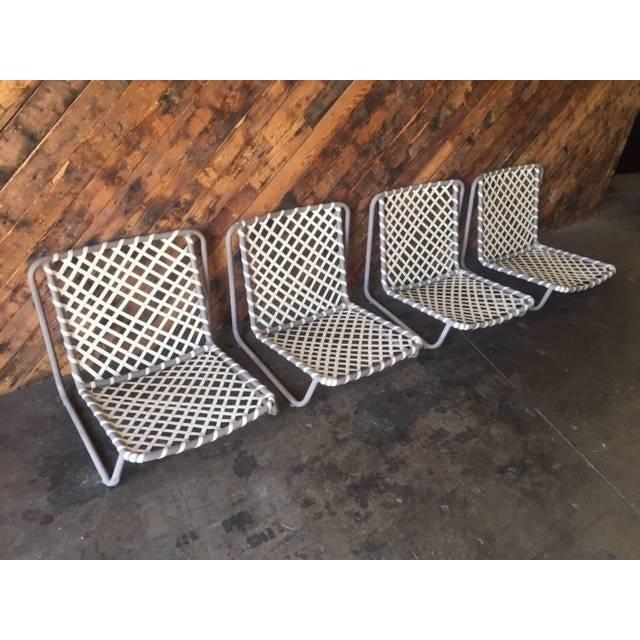 Vintage Brown Jordan Sand Chairs - Set of 4 - Image 3 of 5