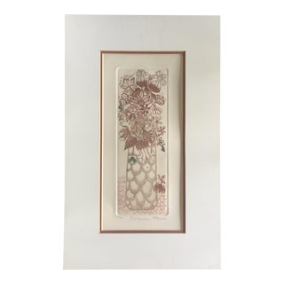 """Bellflowers"" Floral Etching"