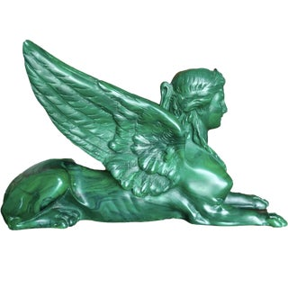 Thomas Blakemore Solid Malachite Greek Sphinx