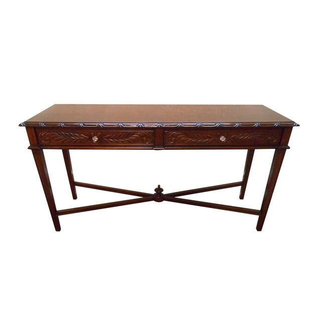 Mariette Himes Gomez Mahogany Console Table - Image 1 of 10