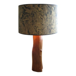 Antique Log Table Lamp