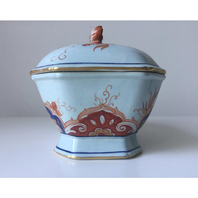 Italian Faience Hand-Painted Imari Tureen - Image 6 of 9