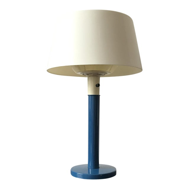 Gerald Thurston Mid-Century Cobalt Table Lamp - Image 1 of 7