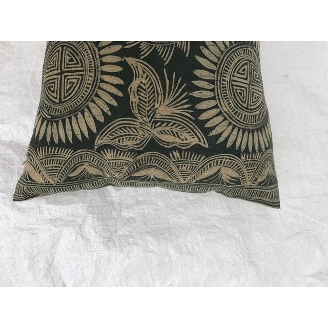 Asian Serpent Gray Batik Pillows - A Pair - Image 8 of 11