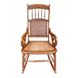 Mid-19th Century St. Croix Regency Mahogany and Cane Rocking Chair