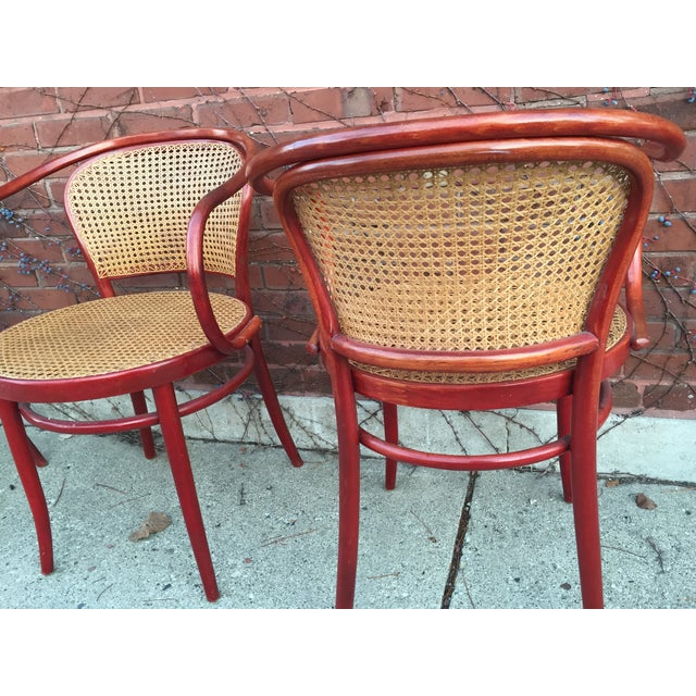 Thonet Attri. Rattan Dining Chairs - Set of 3 - Image 4 of 4