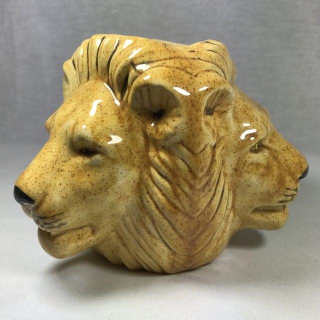 Mid-Century Lion Head Planter or Vase - Image 11 of 11