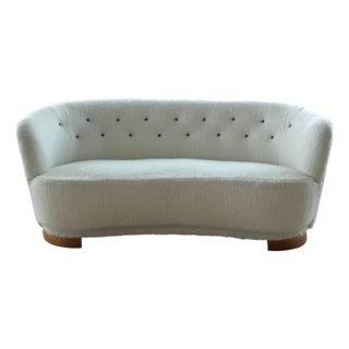 Danish Mid-Century Banana Form Sofa by Slagelse