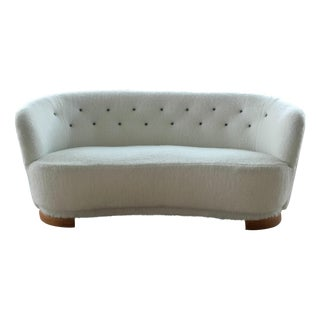 Danish Mid-Century Banana Form Sofa by Slagelse