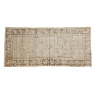"Vintage Distressed Oushak Rug Runner - 3'1"" x 6'8"""