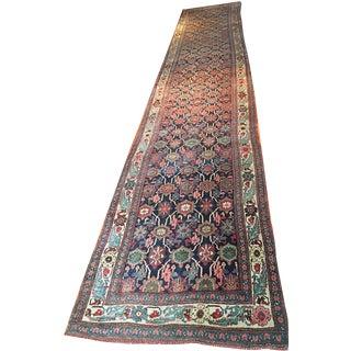 Antique Persian Bidjar Runner - 3′6″ × 18′9″