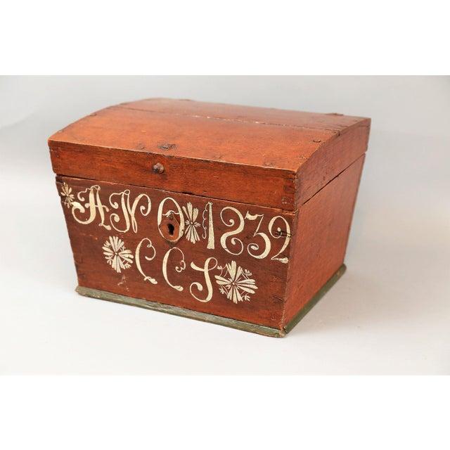 Antique Upsala Swedish Marriage Trunk / Box - Image 2 of 7