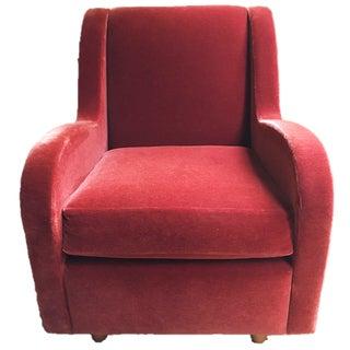Martin Brattrud Cinnamon Mohair Lounge Chair