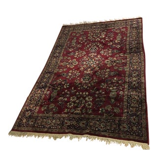 Vintage Persian Turkoman Wool Area Rug - 5′8″ × 8′4″