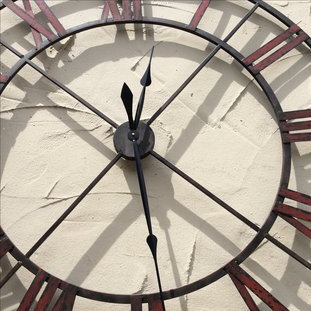 Large Metal Wall Clock - Image 3 of 5