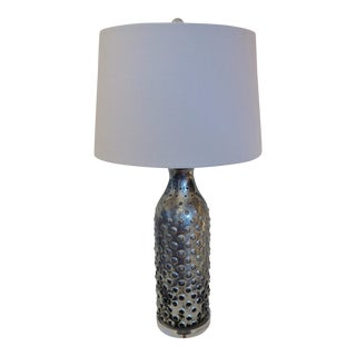 Silver Mercury Patina Glass Bubble Lamp