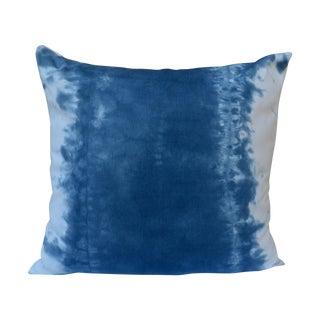 Boho Indigo Blue & White Watercolor Pillow
