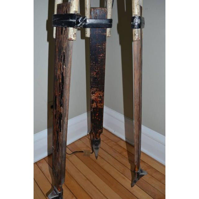 Black-And-White Surveyor's Tripod Floor Lamp - Image 5 of 7