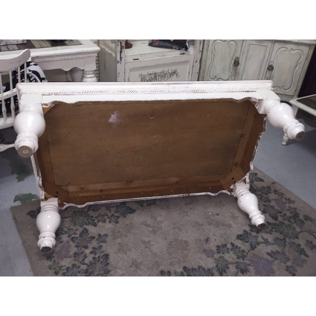 Vintage French Provincial White Coffee Table - Image 11 of 11