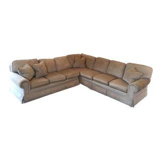 Large Camel Sectional Sofa