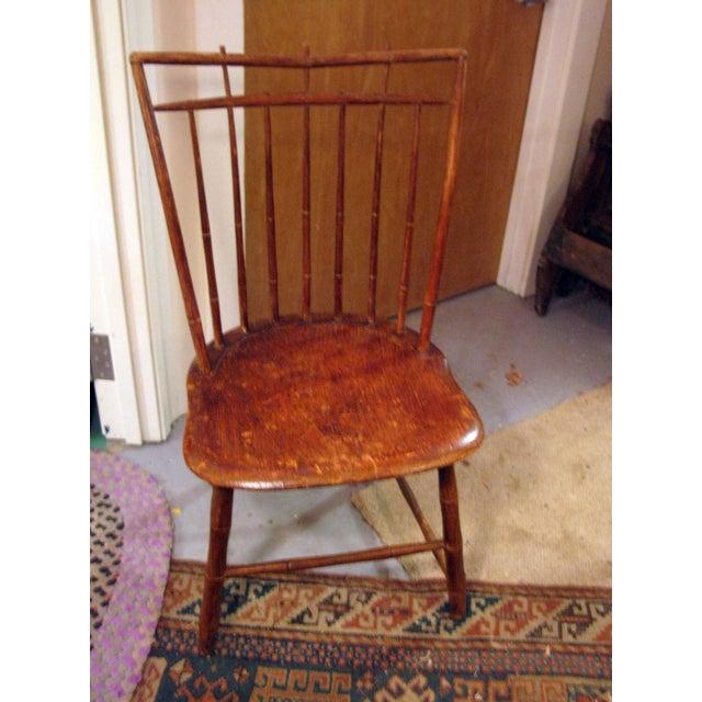 Image of Antique Signed Samuel Gragg Windsor Chair