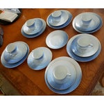 Image of Bing & Grondahl Denmark Porcelain Seagull With Gold Luncheon Set - 29 Pieces