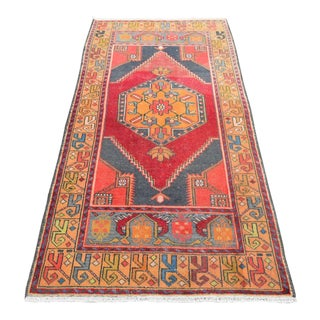 Antique Handwoven Anatolian Rug -- 3′3″ × 6′6″
