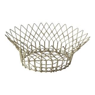 White Wrought Iron Centerpiece Basket
