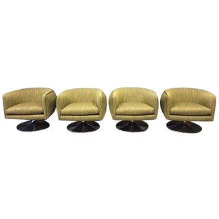 D'Urso Swivel Lounge Chairs - Set of 4