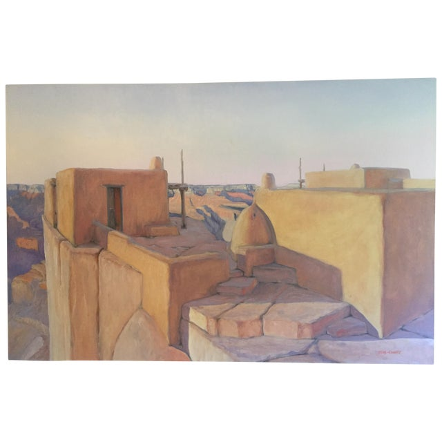 "Bob Howard ""On the Rim"" Oil Painting - Image 1 of 10"