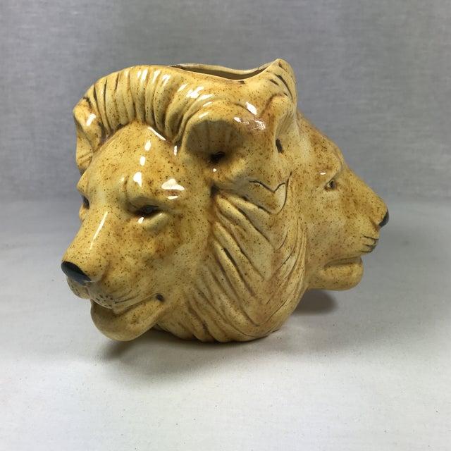 Mid-Century Lion Head Planter or Vase - Image 9 of 11