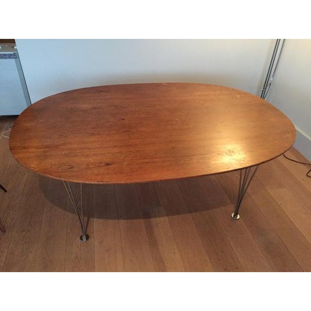 Piet Hein Bruno Mathsson Ellipse Dining Table - Image 2 of 8