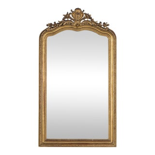 Antique French Louis Philippe Gold Leaf Régence Mirror circa 1880 (37″ w x 64″ h)
