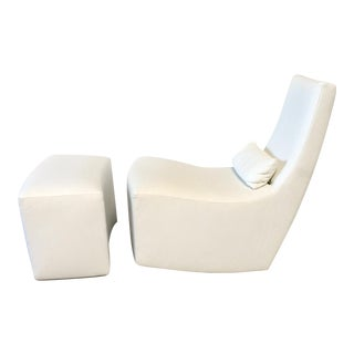 Ligne Roset 'Neo' Rocking Chair & Ottoman by Alban-Sebastien Gilles