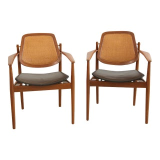 Arne Vodder Dining Armchairs - A Pair