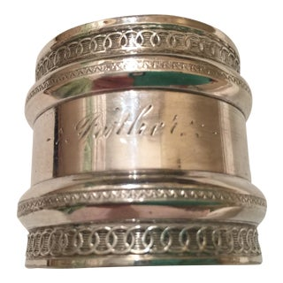 "Silverplate ""Father"" Monogrammed Napkin Ring"