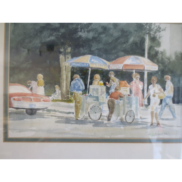 Summer Street Vendors Painting - Image 3 of 6