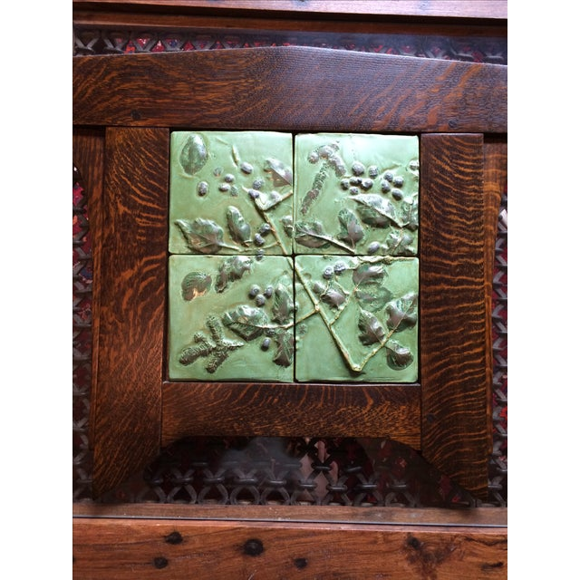 Contemporary Arts And Crafts Ceramic Framed Tile - Image 5 of 6