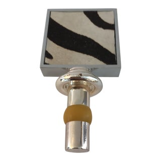 Cowhide Zebra Wine Stopper