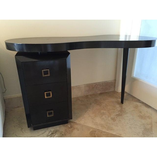 Image of Mid Century Modern Black Desk