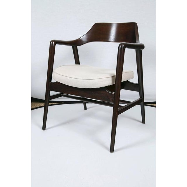 Image of Gunlocke Wood Framed Armchair